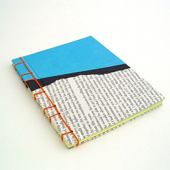 Handmade stab binding by Ruth Bleakley with collage cover