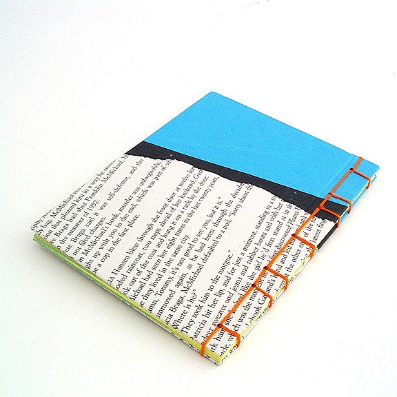 Japanese Stab Binding in Blue and Orange by Ruth Bleakley