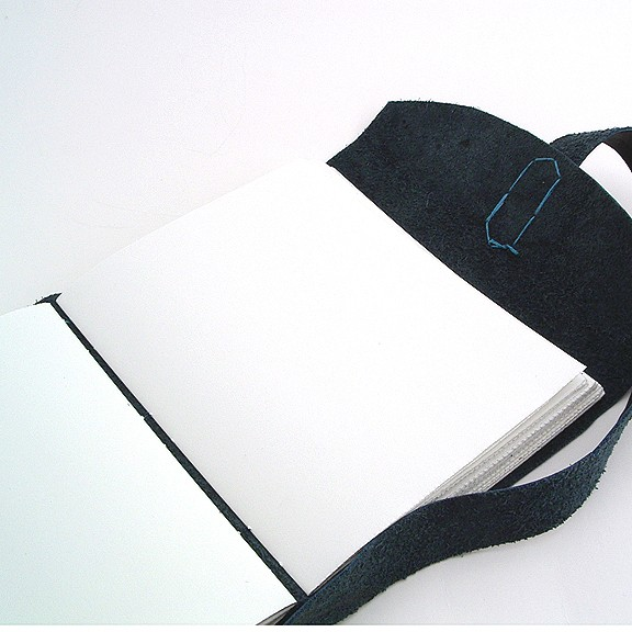 Black Leather Longstitch Journal by Ruth Bleakley