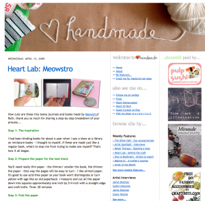 heart handmade blog