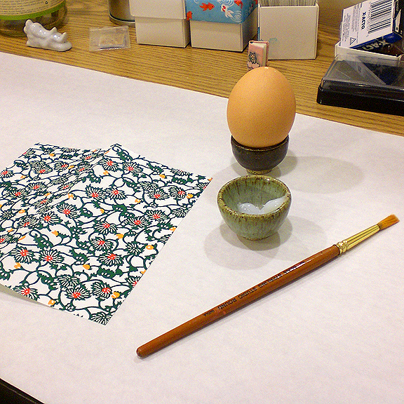 Washi Paper Decoupage Egg Directions