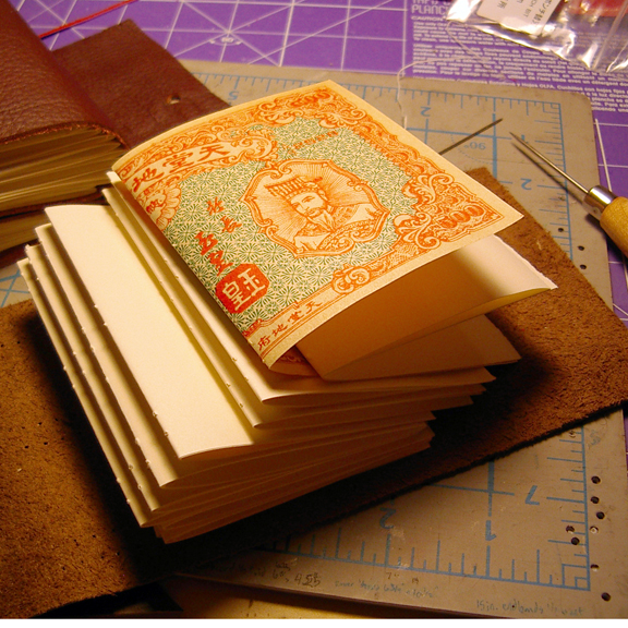 Little Leather Longstitch Book bookbinding process photos by Ruth Bleakley