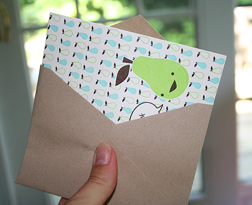 The card is just a teensy bit too big for the envelope, but you can trim it