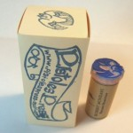 Here's one of four stamps I purchased - great packaging and clever use of a cork as a stamp handle!