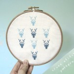 Cross-stitch Stag Wall Hanging - The Time is Now