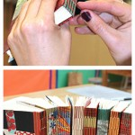 longstitch bookbinding class taught by Ruth Bleakley