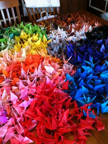 Cranes Sorted By color