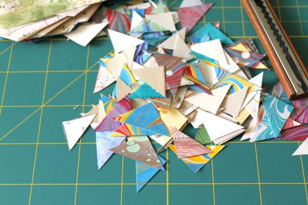 Miter corners from bookbinding