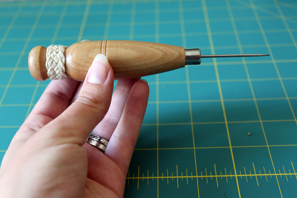 Bookbinding Awl with Turk's Head Knot