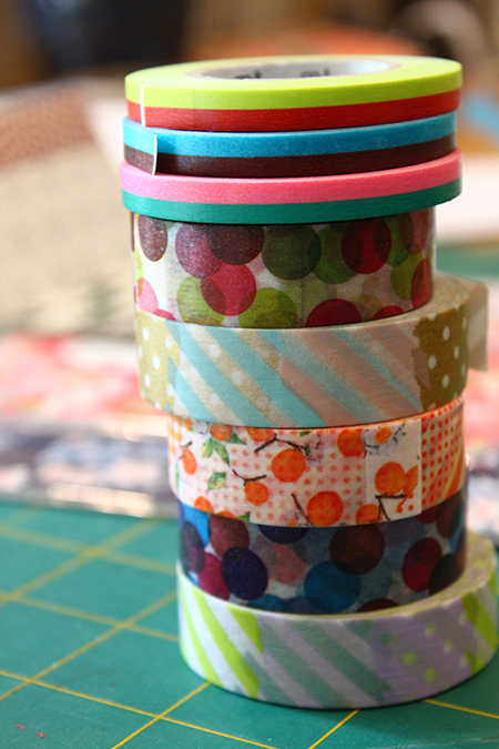 washi paper tape stack