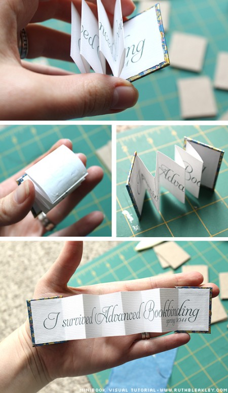 paper crafts for gifts: mini book photo tutorial