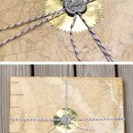 Bakers twine gift wrap idea with anchor wax seal