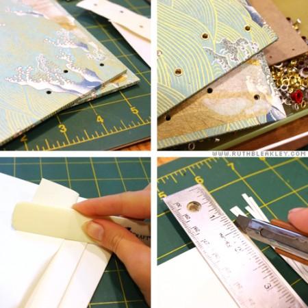 Copic stitch folded soft cover book