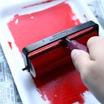 Rolling printmaking ink with brayer - easy DIY Printmaking Tutorial