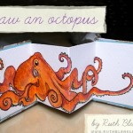 draw an octopus accordion book