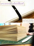Uncovered Sketchbook - with elastic closure by Ruth Bleakley - 1