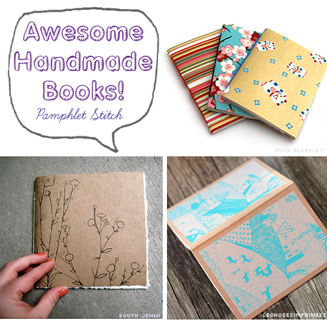 Awesome Handmade Books - 5 Pamphlet Bookbinding Examples