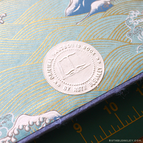 Embossed signature seal - Travel Journal with Case by Ruth Bleakley