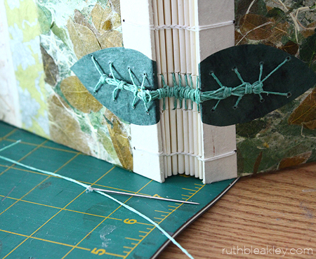 Finished Caterpillar - The making of a Caterpillar Stitch Book by Ruth Bleakley