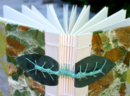 Handmade Journal for Colleen - Caterpillar Stitch Binding by Ruth Bleakley
