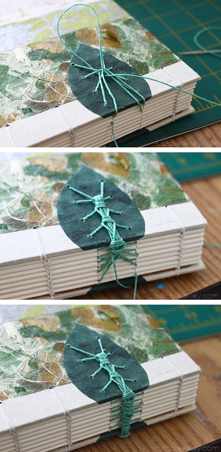 The making of a Caterpillar Stitch Book by Ruth Bleakley