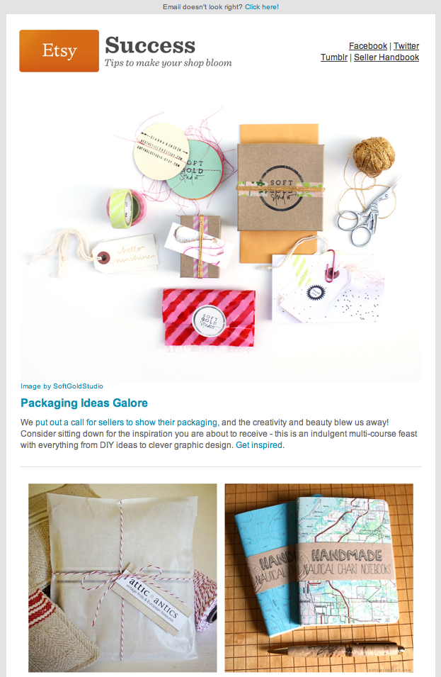 Etsy Success Newsletter Packaging Ideas