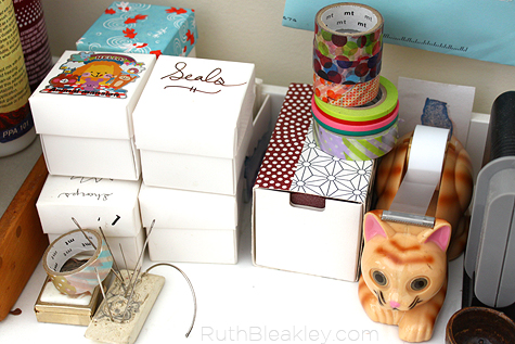 cute stuff - cat tape dispenser and washi tape