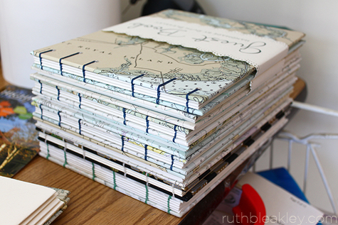 Coptic Stitch Nautical Chart Guestbooks by Ruth Bleakley