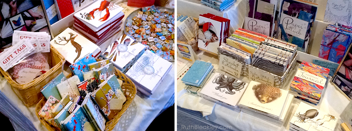 Ruth Bleakley Craft Show Table Collage