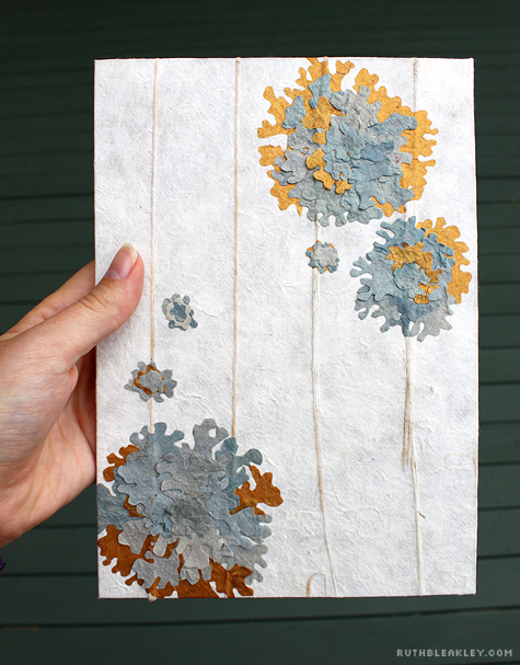 front of lichen handmade book by Ruth Bleakley and Chelsea Clarke