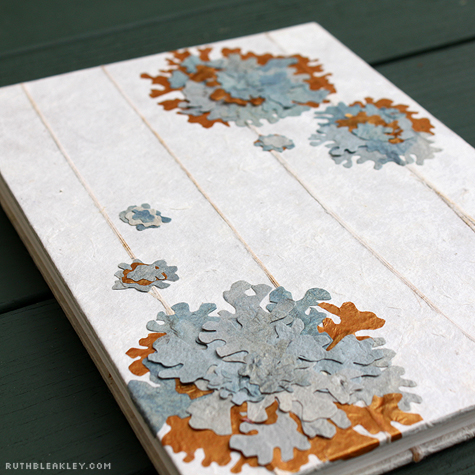 paper lichen handmade book by Ruth Bleakley and Chelsea Clarke