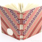 Chevron Washi Tape journal handmade by Ruth Bleakley