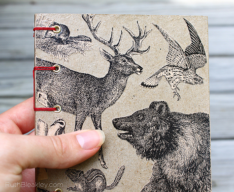 Rocky Mountains handmade travel journal by Ruth Bleakley