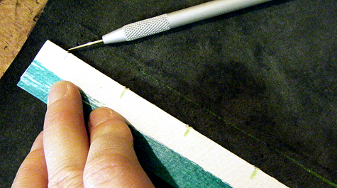 piercing leather cover for longstitch tutorial