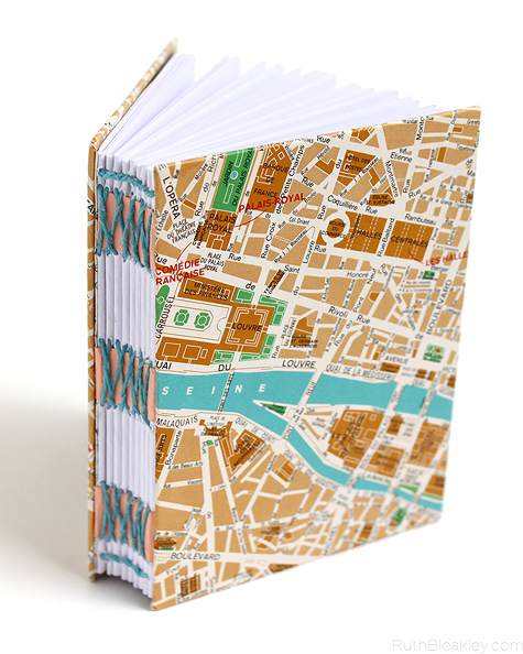 Paris Map Travel Journal by Ruth Bleakley