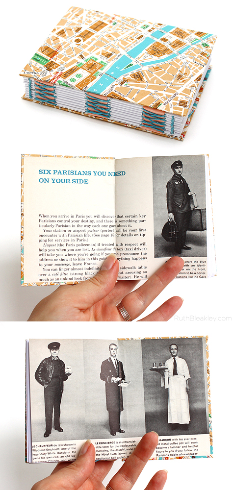Paris Travel Journal - handmade book by Ruth Bleakley
