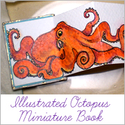 Illustrated Octopus Miniature Book