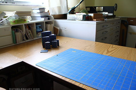 Ruth Bleakley's Tidy bookbinding studio