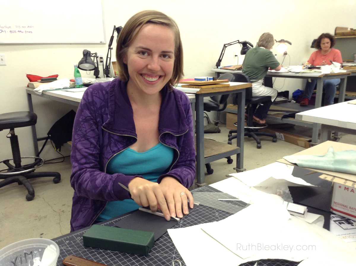 Ruth Bleakley bookbinding at Penland School of Crafts