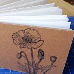 Poppy watercolor sketchbook by Ruth Bleakley