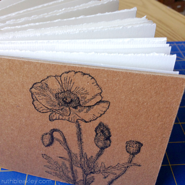 Poppy watercolor sketchbook by Ruth Bleakley