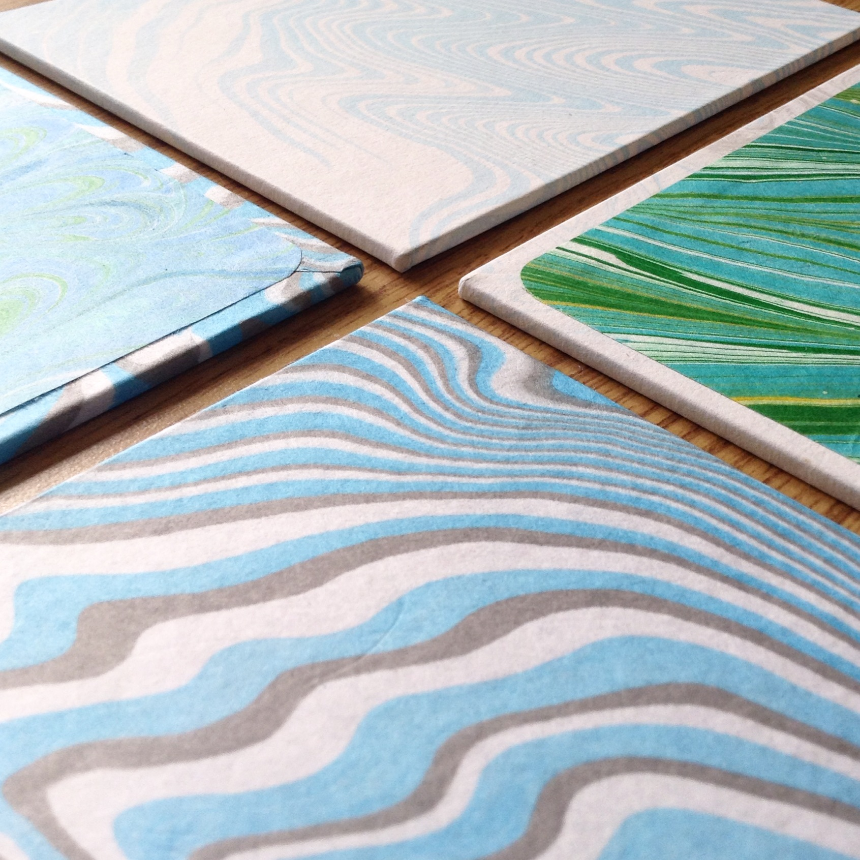 Suminagashi Marbled Book Covers by Ruth Bleakley