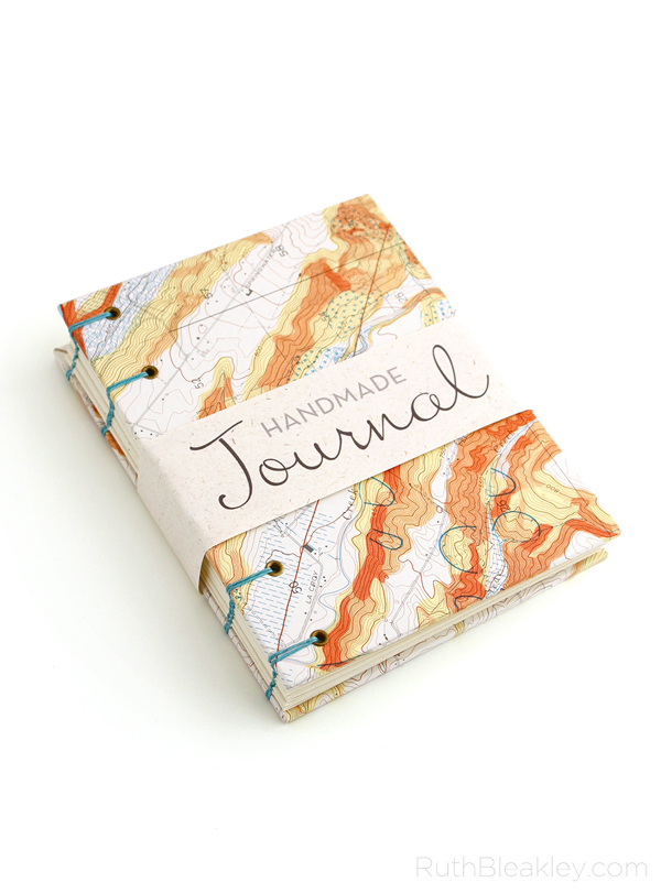 A cool gift for a geologist Topographic Map Journal handmade by Ruth Bleakley