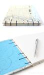 Niagra Falls nautical chart guestbook by bookbinder Ruth Bleakley