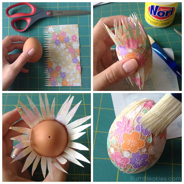 pretty paper covered easter egg