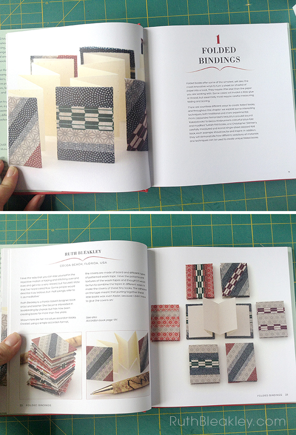 Accordion books by Ruth Bleakley featured in I Love Handmade Books by Charlotte Rivers