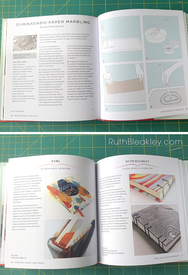 Suminagashi Paper Marbling tutorial in I love Handmade Books by Charlotte Rivers