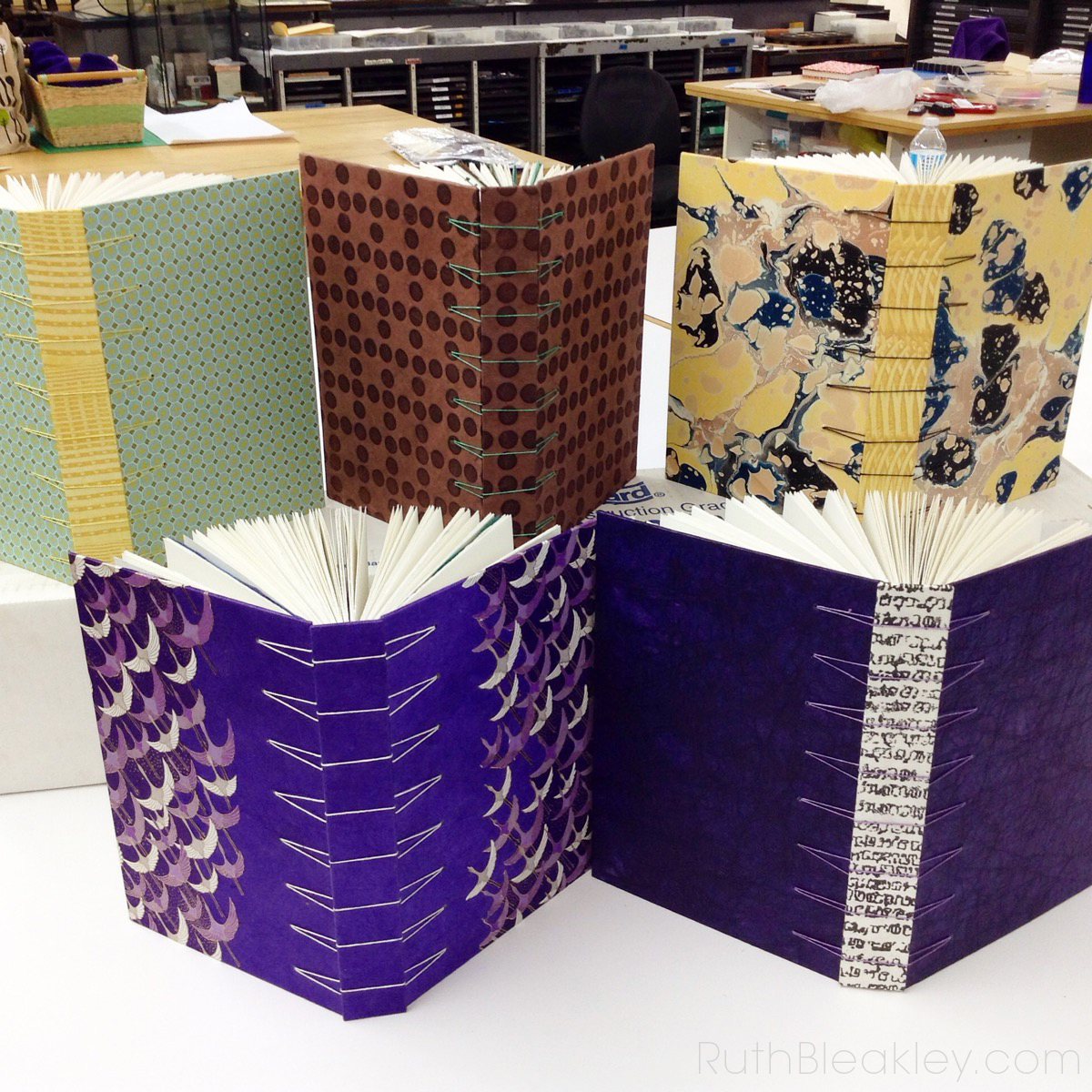 Secret Belgian binding book workshop taught by Holly Fouts
