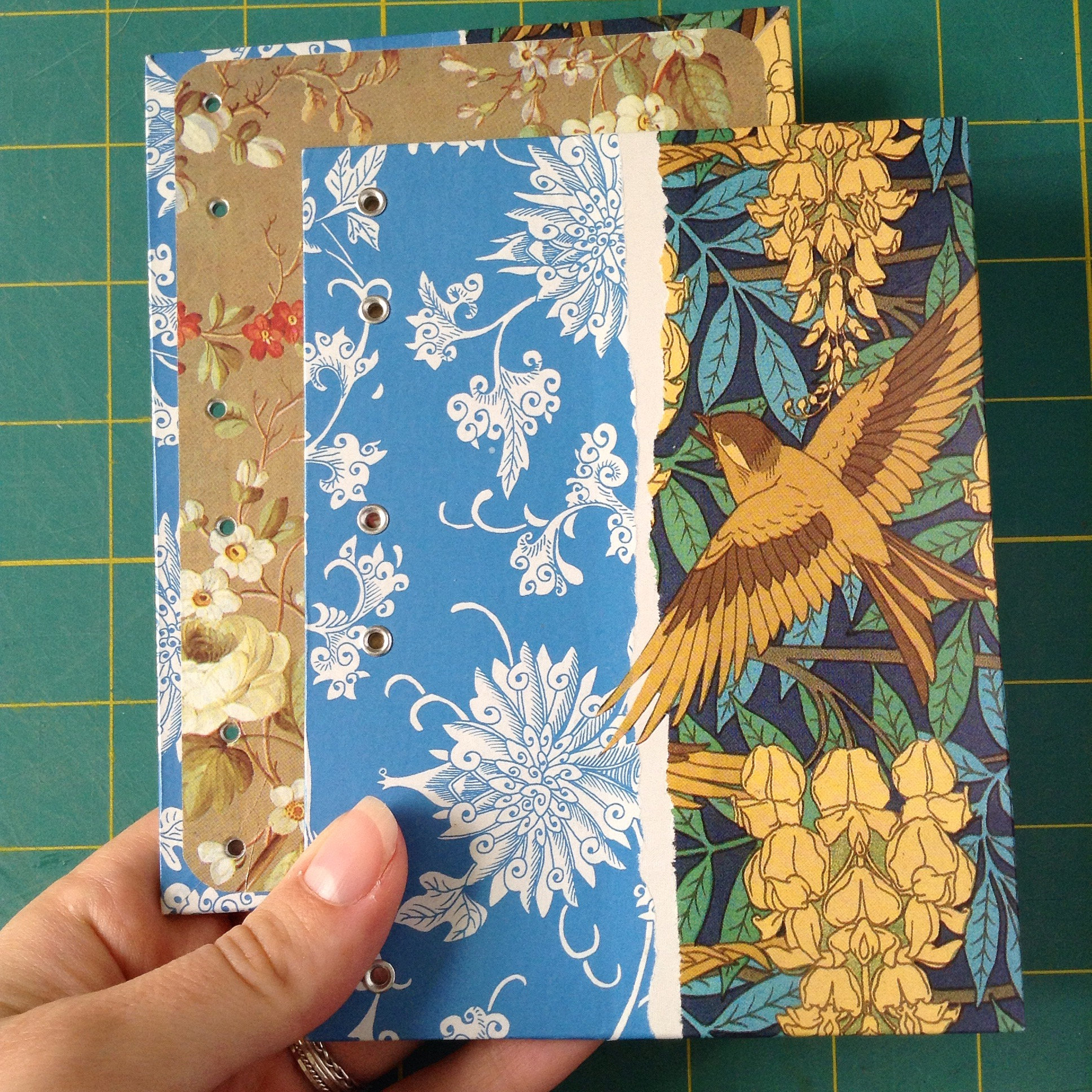 Bookbinding project pictures from Ruth Bleakley - finished covers on Sparrow Art Nouveau book