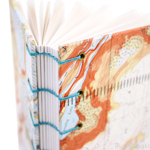 Oregon Map Journal hand bound by Ruth Bleakley